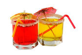 Cocktaile set tropical juices — Stock Photo