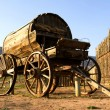 Stock Photo: Fort Zion. Old western wagon