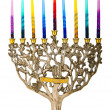 Stock Photo: Chanukah Menorah.