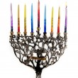 1st day of Chanukah — Stock Photo