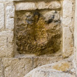 Jesus Hand Imprint - Via Dolorosa, Jerusalem - Stock Photo