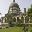 Mount of beatitudes church, sea of galilee, Israel - Stock Photo