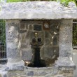 Source with water. Greek Church of the 12 Apostles, Capernaum . — Стоковая фотография