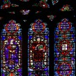 Stained glass windows. St.Patrick's Cathedral in New York  Stain — ストック写真