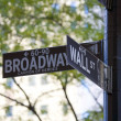 Wall and Broad streets signs — Stock Photo #11298680