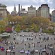 Union Square, New York. Vew from above — Stock Photo