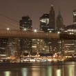 Stock Photo: Downtown Manhattat night