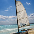 Sailboat is wating for sailing - Stock Photo