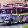 Colorful bus - Stock Photo