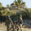Постер, плакат: MEXICO FEBRUARY 7: Soldiers on duty checkinf the boarder on Fe
