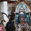 Shaman in Mexico with mystic looking mask. — Stock Photo