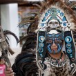 Shaman in Mexico with mystic looking mask. — Stockfoto