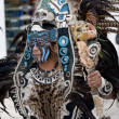 Shaman in Mexico with mystic looking mask. — Foto Stock