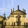 Prague's church steeples — Stock Photo