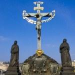 Crucifix. Prague, Czech Pepublic — Stock Photo
