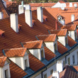 Prague. Red roofs - Stock Photo