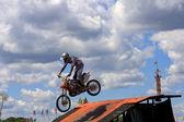Stunt Biker — Stock Photo