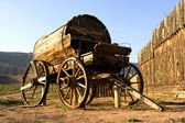 Fort Zion. Old western wagon — Stock Photo