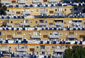 Ponaramic view of Haifas apartment buildings — Stock Photo