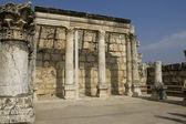 Ruínas da sinagoga em Cafarnaum — Fotografia Stock
