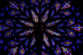 Stained glass windows. St.Patrick's Cathedral in New York Stain — Stockfoto