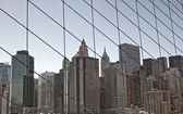Manhattan view from Brooklyn bridge — Stock Photo
