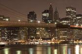 Downtown Manhattan at night — Stock Photo