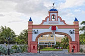 Gate to the resort — Stock Photo