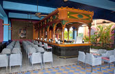 Open resort restaurant with a bar stand — Stock Photo