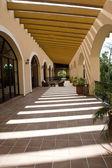 Fully open hallway of resort — Stock Photo