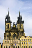 Prague's church steeples — Foto Stock