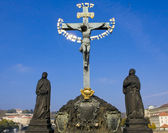 Crucifix. Prague, Czech Pepublic — Stock Photo