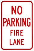 Sign- No parking fire lane — Zdjęcie stockowe