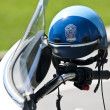 US Police Motocycle helmet - Stock Photo
