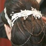 Brides Haeddress — Stock Photo