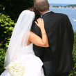 Attractive couple on their wedding day — Stock Photo #11300218