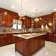 Beautiful Custom Kitchen — 图库照片