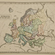 Europe IX century.  Ancient map of the world Ancient map of the — Stock Photo