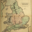 Stock Photo: England .Ancient map of world