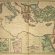 Ancient map of the world . Published by George Philip and son at — Stock Photo