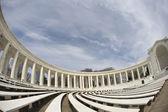 Innenansicht des amphitheaters vor das grab von der unkn — Stockfoto