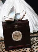 Le scarpe da sposa — Foto Stock