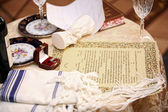Jewish marriage contract — Stock Photo
