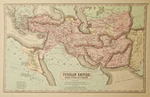 Persian Empire. Ancient map of the world. Ancient map of the wor — Stock Photo