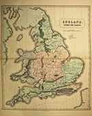 England .Ancient map of the world — Stock Photo