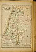 巴勒斯坦。古代的世界地图 — 图库照片