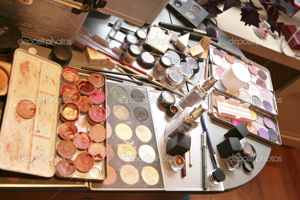 Cosmetics on on table ready to use — Stock Photo #11300181
