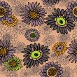 Art vintage floral seamless pattern background - Stock Photo