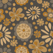 Stock Photo: Art vintage floral seamless pattern background