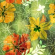 Stock Photo: Art floral grunge background pattern